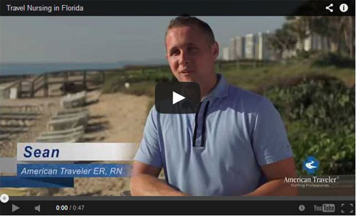 Florida travel nursing video with Sean, ER RN