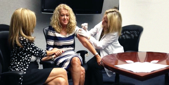 Flu Shot Clinic at American Traveler Corporate office