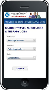 mobile nursing job search