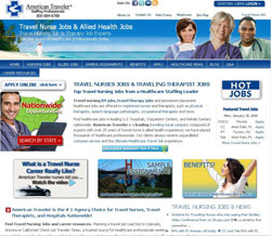new American Traveler  travel nurse website