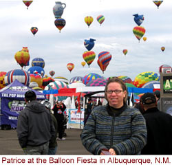 nurse interview - picture at hot balloon fiesta in New Mexico