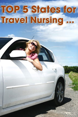 top 5 states for travel nursing