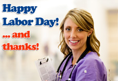 happy labor day to nurses
