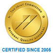 Certified since 2006 - The Joint Commission Certification