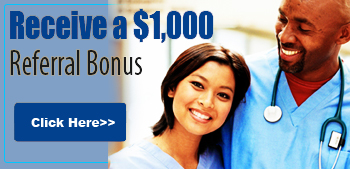 Referral bonus for travel nurses