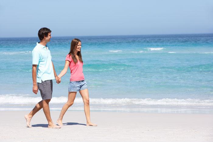 Travel Nurse Couple on Beach