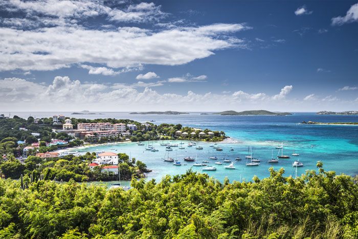 Travel to exotic locations like Cruz Bay in the Virgin Islands