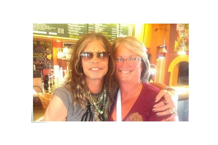 Kim with Aerosmith