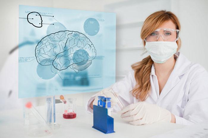 Nurse Conducting Brain Study