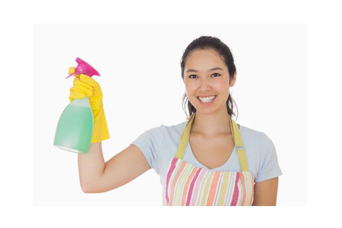 Nurse Cleaning Scrubs