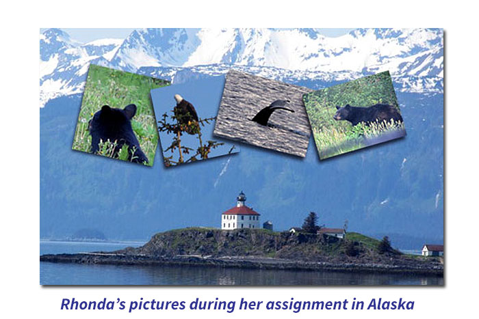 Pictures from Rhonda, RN while travel nursing in Alaska
