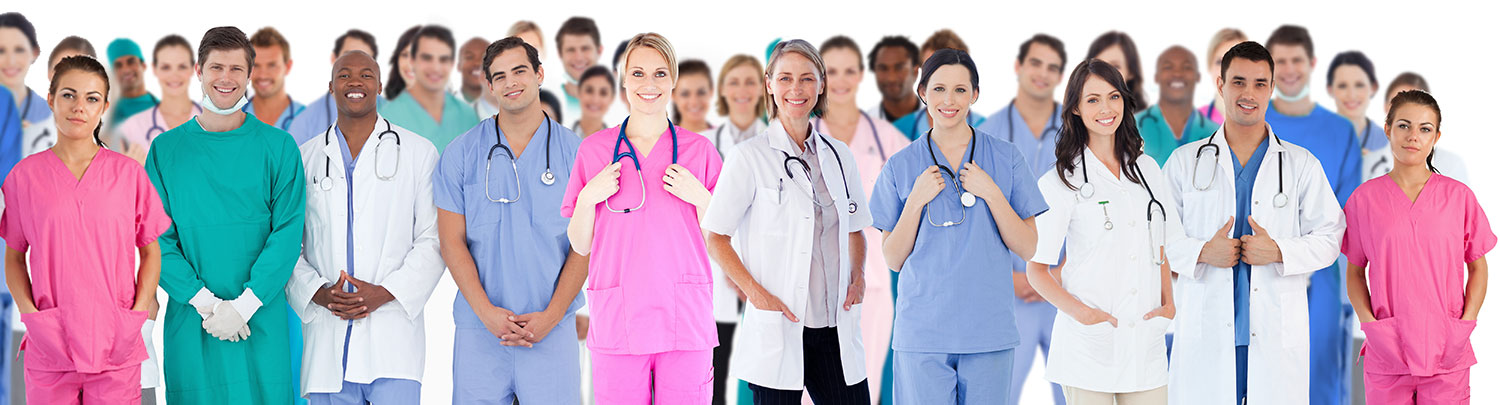 Various healthcare professionals and specialties
