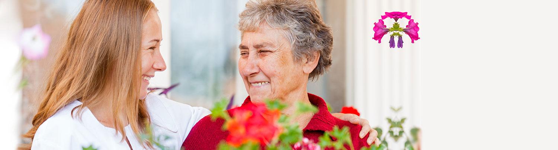 Home Health nurse with elderly woman