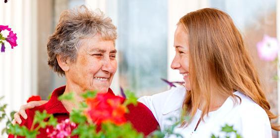 Home Health elderly woman with nurse