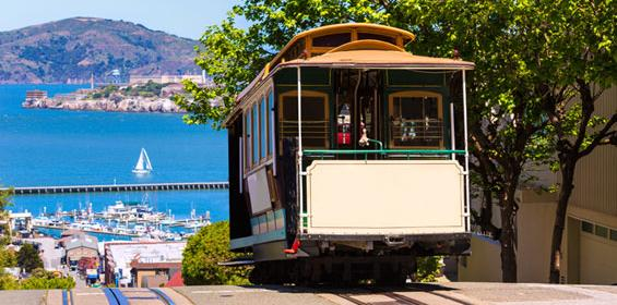 Street Cable Car in San Francisco, California