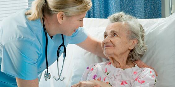 Senior Citizen with Travel Nurse