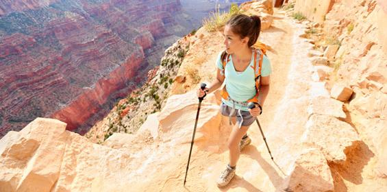 Woman Hiking in Grand Canyon Arizona