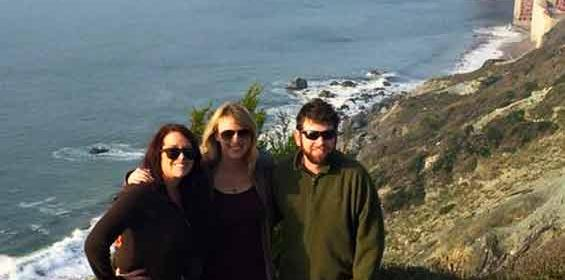 Julie B., CC RN, in the middle, while in San Francisco with fiance and a friend