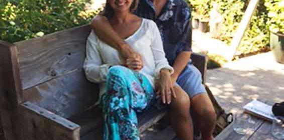 Rubiela B., CC, RN and husband Mike at Zen Garden in Caifornia