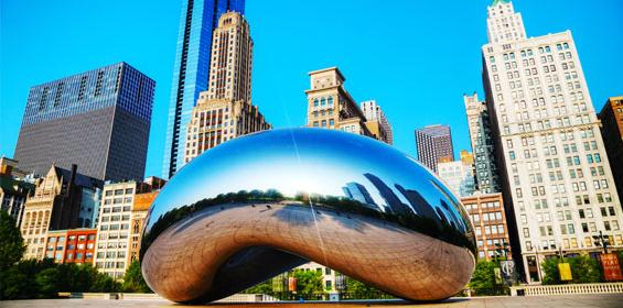 Chicago Bean and city