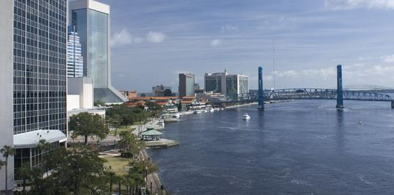 Jacksonville riverbank downtown