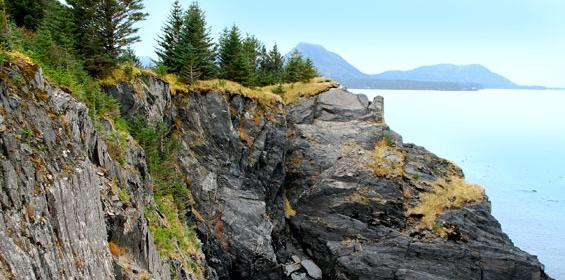 Kodiak Island cliffs