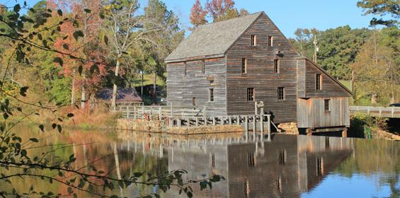Raleight-Durham, North Carolina at historical Yates Mill