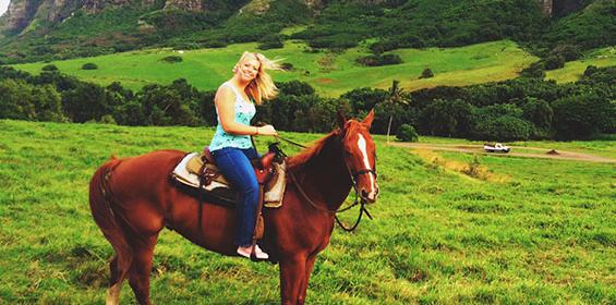 Amy L, OR Tech horseback riding in Hawaii