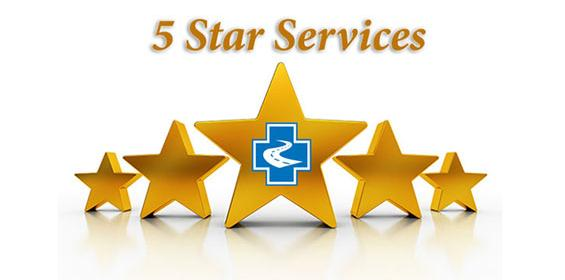 Survey Says we offer Five Star Service