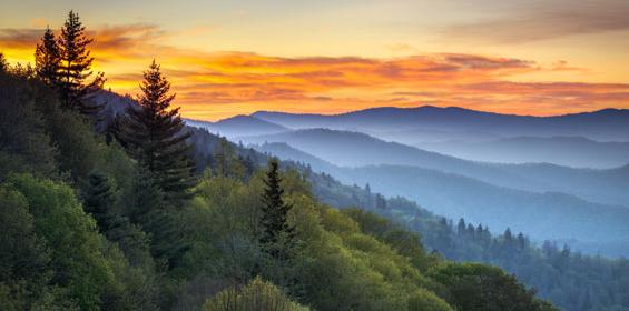 Great Smoky Mountains in Tennessee