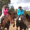Jessica and Hayley Traveling on Horses
