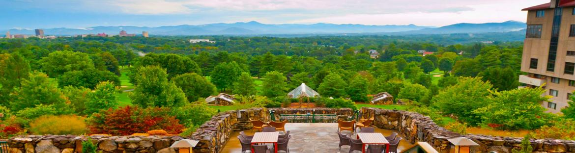 Terrace of Omni Grove Park in Asheville