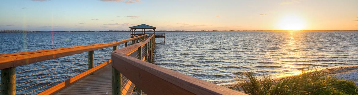 Indian River in Melbourne, Florida at Sunset
