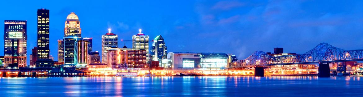 Skyline in Louisville, Kentucky