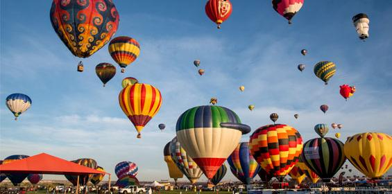 Balloon fiesta in Albuquerque New Mexico