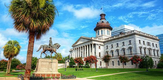 The South Carolina State House in Columbia