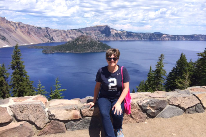 Travel nurse Shelly, RN at Crater Lake while travel nursing in Oregon